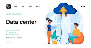 concetto di web server di dati vettore