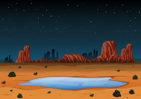 paesaggio arizona di notte vettore
