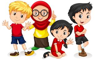 Gruppo di bambini internazionali