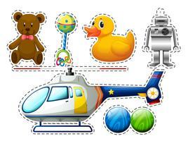 Set di adesivi di molti giocattoli