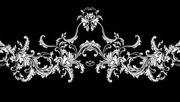 Bordo ornamentale, cornice. Modello barocco Vector senza soluzione di continuità.