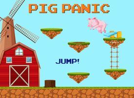 Un modello di gioco Jumpling di maiale