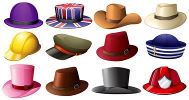 Diversi modelli di cappelli vettore