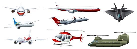 Diversi tipi di jet da combattimento vettore