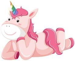Un personaggio unicorno rosa