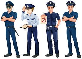 Quattro poliziotti vettore
