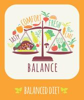 Illustrazione vettoriale di dieta equilibrata.