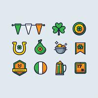 Vettore stabilito di clipart di giorno di St.Patrick