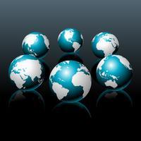 Illustrazione di mappa mondo vettoriale