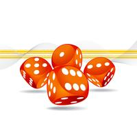 illustrazione di gioco con quattro dadi rossi