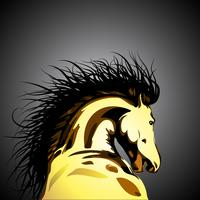 Illustrazione di cavallo selvaggio vettoriale