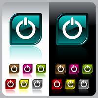 Pulsante di colore lucido con sette variazioni di colore vettore