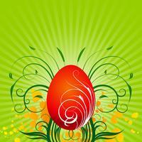 Illustrazione di Pasqua di vettore con l'uovo dipinto