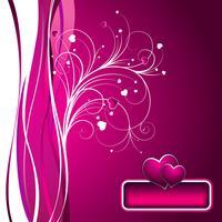 illustrazione di San Valentino con un bel focolare su sfondo rosa vettore