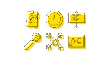 Pacchetto di icone vettoriali UX contorno minimalista