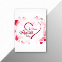 Progettazione dell'opuscolo della carta variopinta dei cuori di giorno di biglietti di S. Valentino