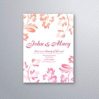 Vettore floreale decorativo di progettazione di carta dell'invito di nozze