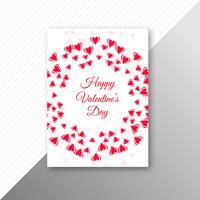 Bello vettore di progettazione del modello della carta di San Valentino