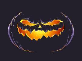 Zucca di Halloween vettore