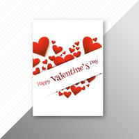 Progettazione creativa del modello della carta variopinta dei cuori di giorno di biglietti di S. Valentino