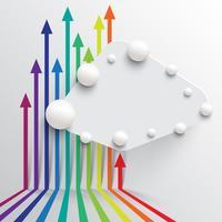 Modello colorato e pulito con le frecce, illustrazione vettoriale