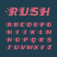 Set di caratteri 'Rush', illustrazione vettoriale