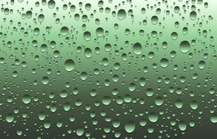 L'acqua realistica cade su un vetro normale, illustrazione di vettore