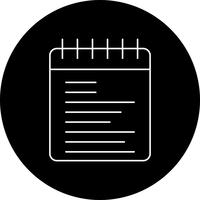 icona del blocco note vettoriale