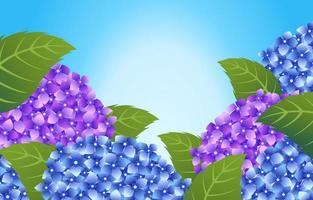 sfondo di fiori di ortensia in fiore vettore