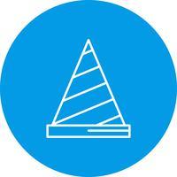 Icona del cono vettoriale
