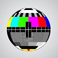 Schermo di errore TV in una sfera, illustrazione vettoriale