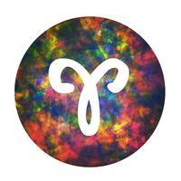 Un segno zodiacale di Ariete, illustrazione vettoriale