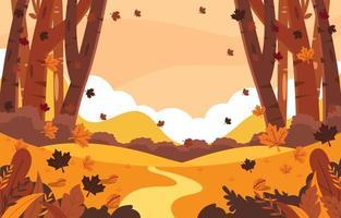 le foglie cadono in autunno vettore