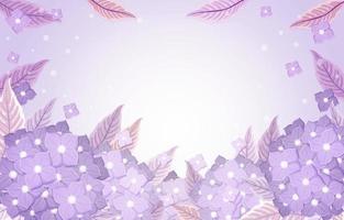sfondo di ortensie floreali viola vettore