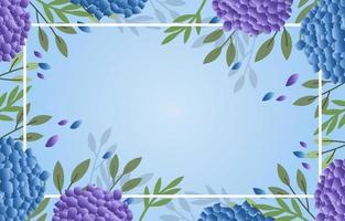 sfondo floreale di ortensie vettore