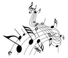 Pacchetto di note musicali vettoriali