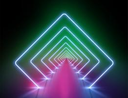 Priorità bassa chiara al neon altamente dettagliata, illustrazione di vettore