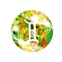Un segno zodiacale di gemini, illustrazione vettoriale