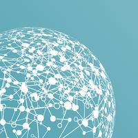 Mondo punteggiato con connessioni, illustrazione vettoriale