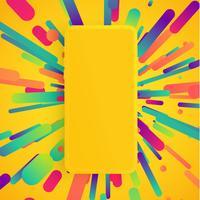 Smartphone opaco realistico con sfondo colorato