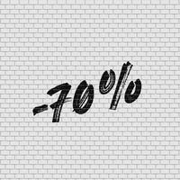 Alto muro di mattoni dettagliato con percentuale, illustrazione vettoriale