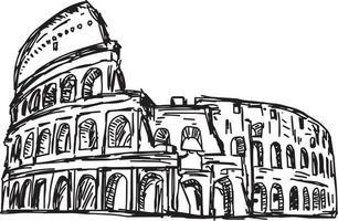 Colosseo - illustrazione vettoriale schizzo disegnato a mano