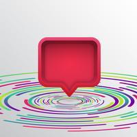 Fumetto realistico 3D con cerchi colorati, illustrazione vettoriale