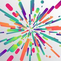 Effetto zoom colorato per sfondo, illustrazione vettoriale