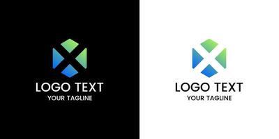 lettera x logo design vettoriale