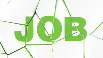 Parola di 'JOB' su una superficie bianca rotta, illustrazione vettoriale