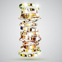 Priorità bassa dorata degli anelli, illustrazione di vettore