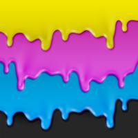 Illustrazione realistica di vettore della pittura di CMYK
