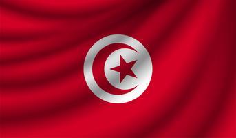 Bandiera realistica, illustrazione vettoriale
