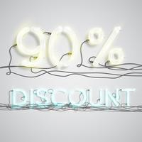 Percentuale di sconto, illustrazione vettoriale